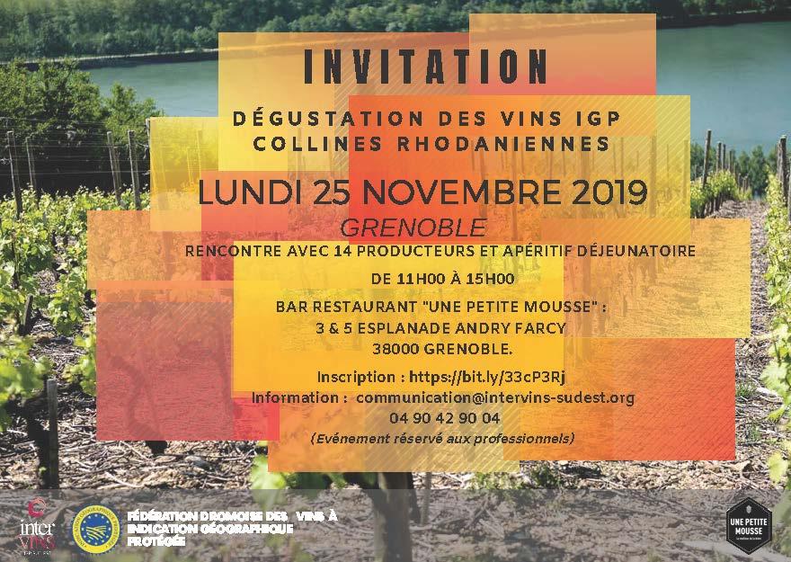 Dégustation des vins IGP Collines Rhodaniennes